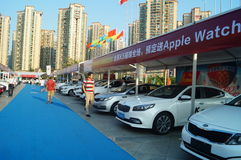 Shenzhen, China: auto exhibition sales Royalty Free Stock Images