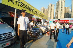 Shenzhen, China: auto exhibition sales Royalty Free Stock Photography