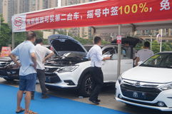 Shenzhen, China: auto exhibition sales Stock Photography