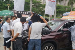 Shenzhen, China: auto exhibition sales Stock Photos