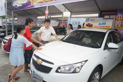 Shenzhen, China: auto exhibition sales Royalty Free Stock Photography
