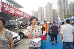 Shenzhen, China: auto exhibition sales Royalty Free Stock Photo