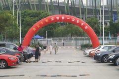 Shenzhen, China: auto exhibition sales Stock Images