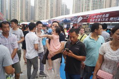 Shenzhen, China: auto exhibition sales Stock Photography