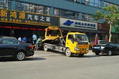 Shenzhen, China: auto repair and beauty Royalty Free Stock Image