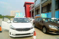 Shenzhen, China: auto sales advertising claims that the new car will only be 20 thousand yuan to drive home Stock Images