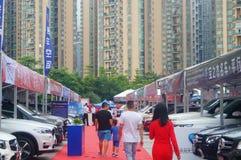 Shenzhen, China: auto show sales landscape, new energy vehicle exhibition Royalty Free Stock Photos