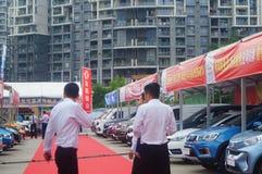 Shenzhen, China: auto show sales landscape, new energy vehicle exhibition Stock Images