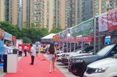 Shenzhen, China: auto show sales landscape, new energy vehicle exhibition Stock Photography