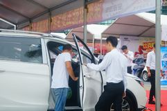 Shenzhen, China: auto show sales landscape, new energy vehicle exhibition Stock Photos