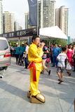 Shenzhen china: auto show stunt Stock Image
