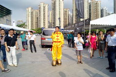 Shenzhen china: auto show stunt Stock Photo