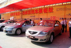 Shenzhen china: automobile exhibition sales Royalty Free Stock Photos