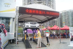Shenzhen, China: automobile exhibition sales activities Royalty Free Stock Photo