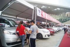 Shenzhen, China: automobile exhibition sales activities Stock Photos