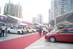 Shenzhen, China: automobile exhibition sales activities Royalty Free Stock Image