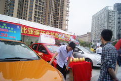 Shenzhen, China: automobile exhibition sales Stock Image