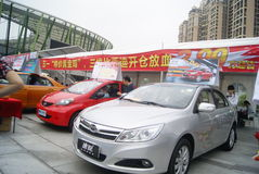 Shenzhen, China: automobile exhibition sales Stock Photos