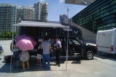 Shenzhen, China: automobile exhibition sales Royalty Free Stock Image