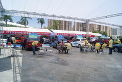 Shenzhen, China: automobile exhibition sales Stock Photo