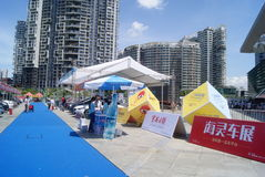 Shenzhen, China: automobile exhibition sales Royalty Free Stock Photo