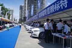 Shenzhen, China: automobile exhibition sales Royalty Free Stock Photos