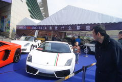 Shenzhen, China: automobile exhibition sales Stock Images
