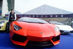 Shenzhen, China: automobile exhibition sales Royalty Free Stock Photography