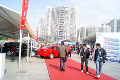 Shenzhen, China: automobile exhibition sales Stock Photography
