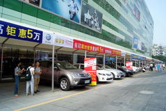 Shenzhen china: automobile exhibition sales Stock Photos