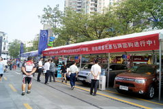 Shenzhen china: automobile exhibition sales Royalty Free Stock Photography