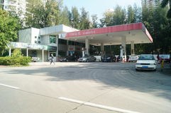 Shenzhen, China: Automotive gas stations Royalty Free Stock Images
