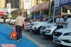 Shenzhen, China: autotentoonstellingsverkoop Stock Foto