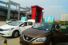 Shenzhen, China: AutoverkaufWerbungen, dass der Neuwagen nur 20 tausend Yuan zur Heimfahrt ist Lizenzfreies Stockbild