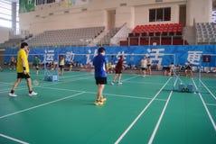 Shenzhen, China: Badminton Stadium Stock Photo