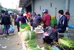 Shenzhen china: baoan agricultural wholesale marke Stock Images
