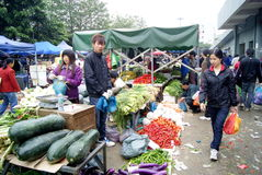 Shenzhen China: baoan agricultural wholesale marke Royalty Free Stock Images