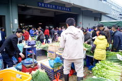 Shenzhen China: baoan agricultural wholesale marke Royalty Free Stock Image