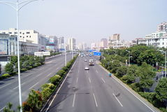 Shenzhen, china: baoan avenue Royalty Free Stock Images