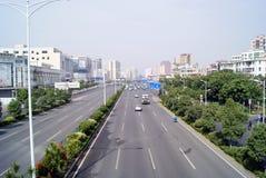 Shenzhen, china: baoan avenue Royalty Free Stock Images