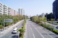 Shenzhen china: baoan avenue Royalty Free Stock Image