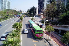 Shenzhen china: baoan avenue Royalty Free Stock Images