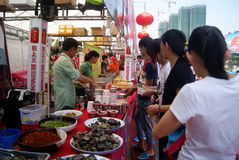 Shenzhen china: baoan food festival Stock Photography