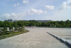 Shenzhen, China: Baoan stadium square landscape Royalty Free Stock Photos