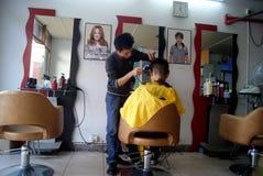 Shenzhen china: barber shop Royalty Free Stock Photos