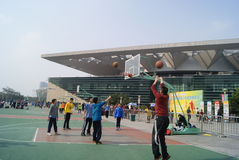 Shenzhen, china: basketball competitions Royalty Free Stock Photos
