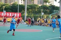 Shenzhen, China: basketball match Stock Photography