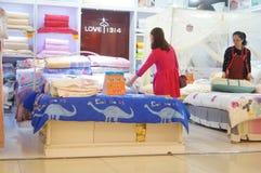 Shenzhen, China: bedding shop Stock Images