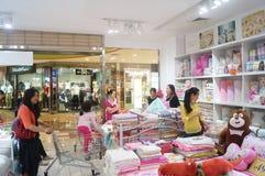 Shenzhen, China: bedding shop Royalty Free Stock Images