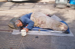 Shenzhen, China: beggars Stock Image